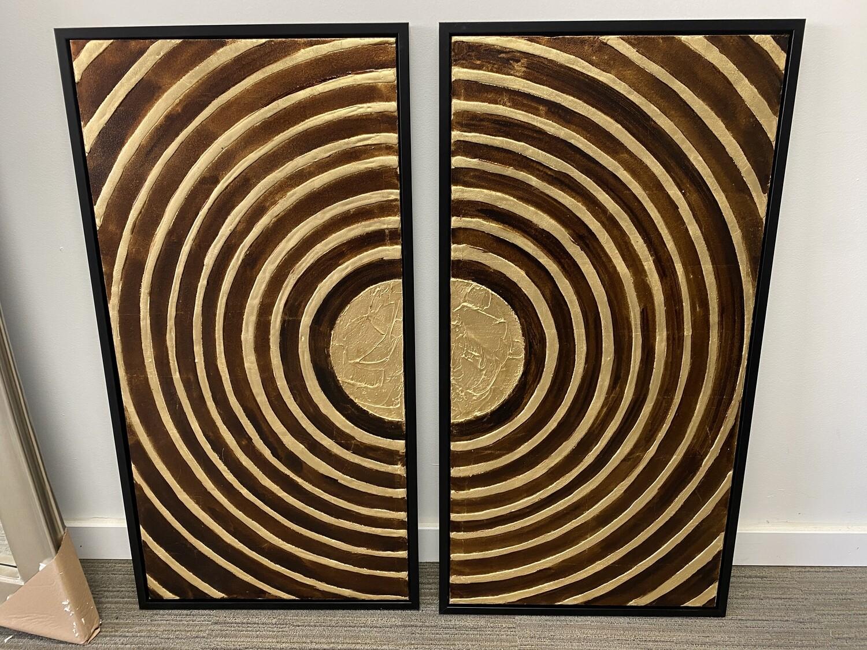 Brown & Gold 2-Piece Art