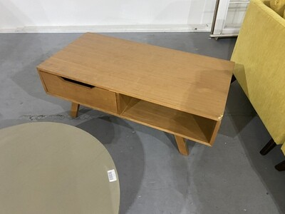 JB Light Wood Coffee Table (Damaged)