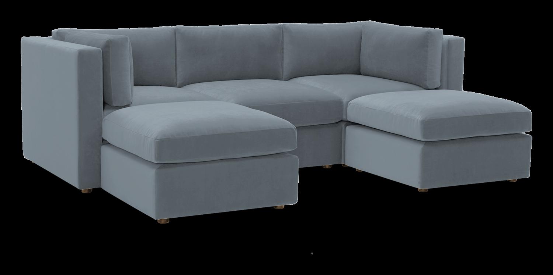 JB Daya Modular U-Sofa Sectional (5 piece) 4370