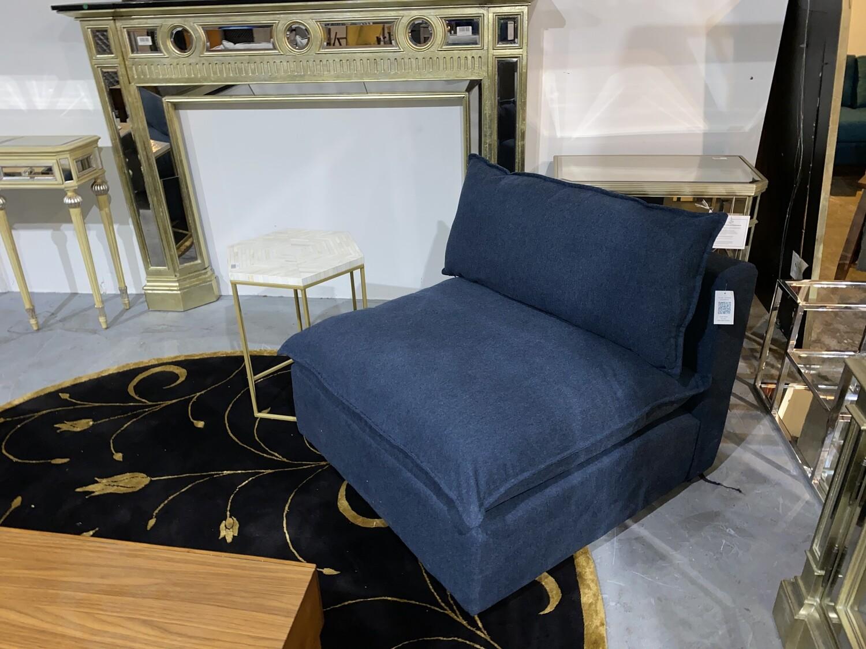 JB Haine Armless Chair (Faithful Indigo) 1313