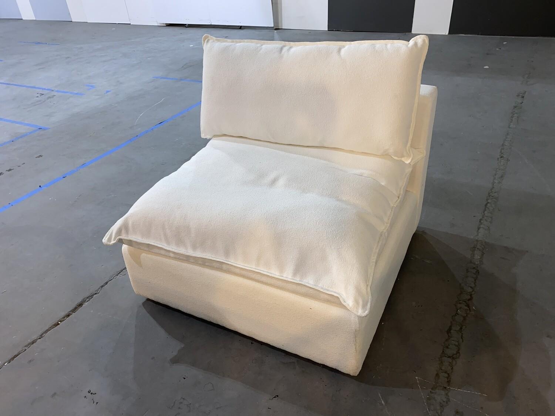 JB Haine Armless Chair (Tussah Blizzard) 1313