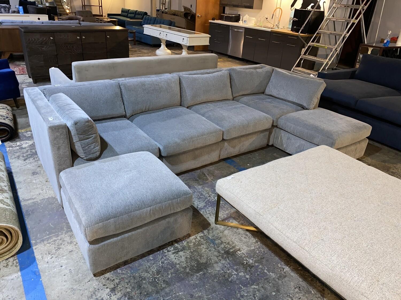 JB Daya Modular U-Sofa Sectional - Synergy Pewter (5 piece) 4370