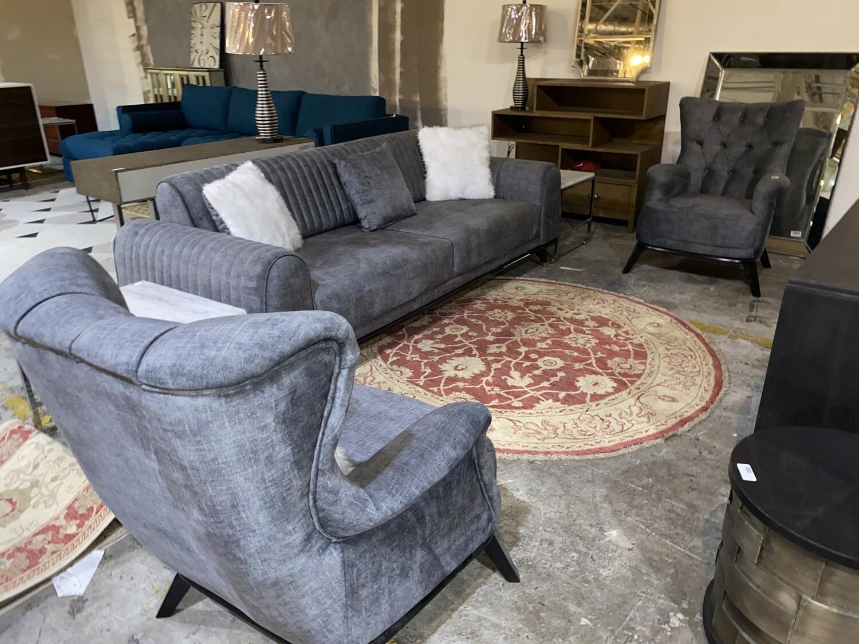 Malaado Grey Velvet Sofa