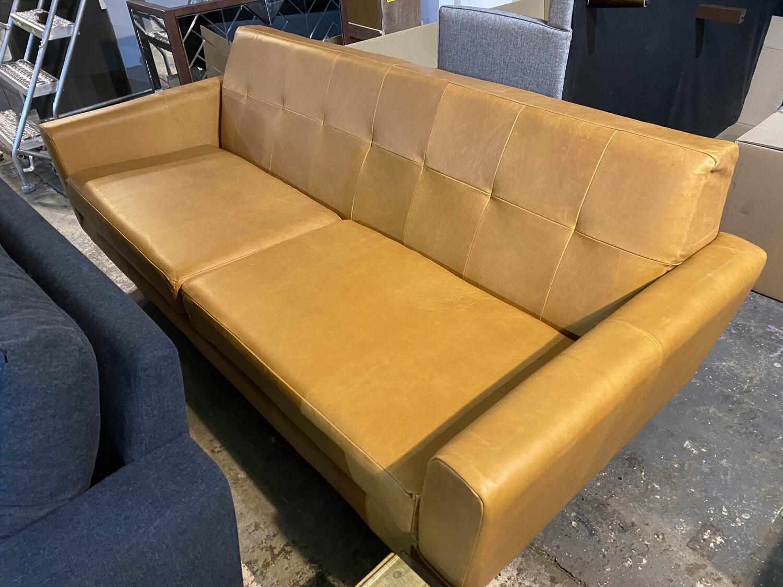 JB Hughes Leather Sofa 3113