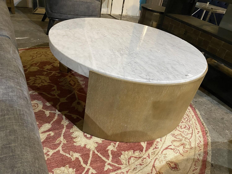 Hooker Furniture Marble Coffee Table (Minor Blemish)