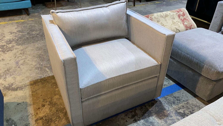 JB Dune Swivel Chair (Sunbrella Premier Fog) 1393