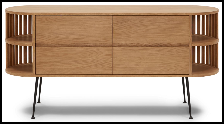 JB Vira Console Cabinet  (Oak) 1328