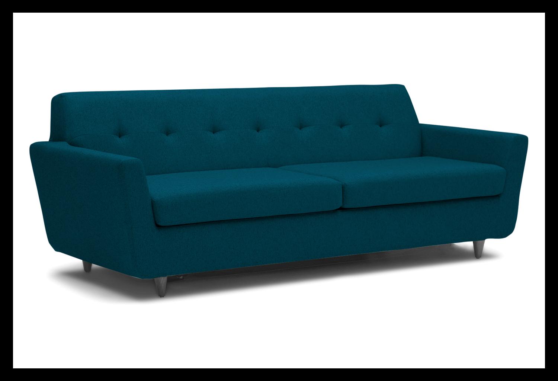 JB Hughes Sleeper Sofa (Key Largo Zenith Teal) 3227