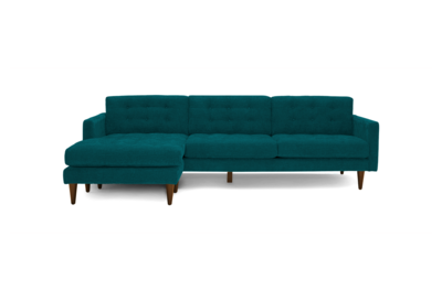 JB Eliot Reversible Sectional / w Extra Cushion (Lucky Turquoise) 3467