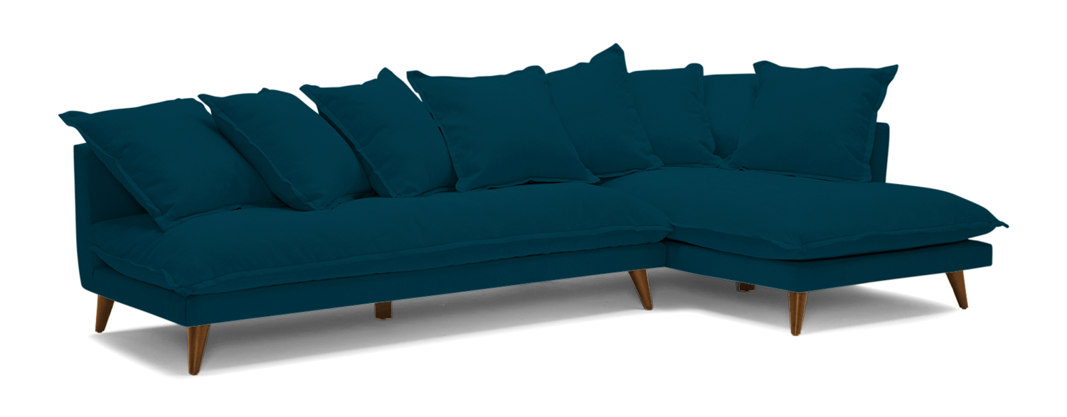JB Denna Sectional (Key Largo Zenith Teal) (Chaise Right Facing) 3984