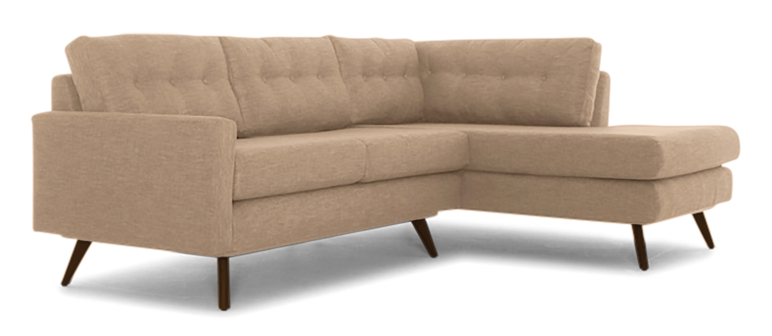JB Hopson Apartment Sectional with Bumper (Royale Blush) 3813