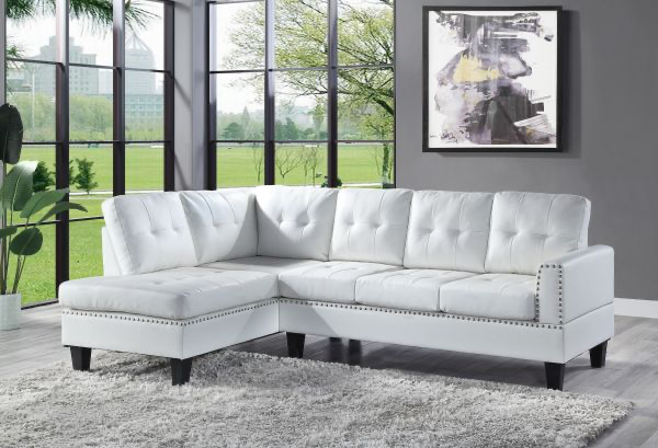 Jeimmur Sectional Sofa - White Acme