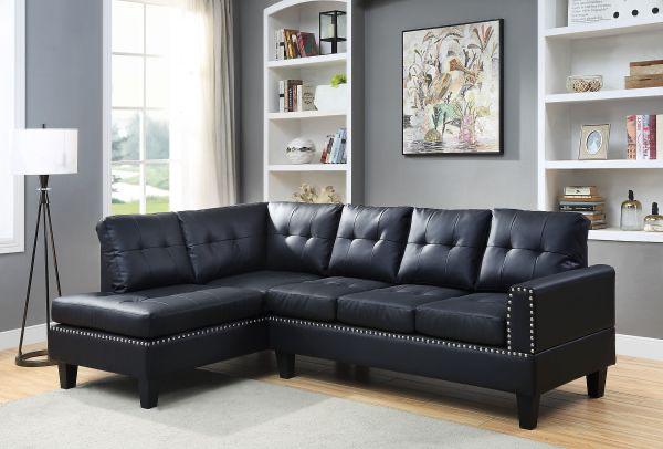 Jeimmur Sectional Sofa - Black Acme