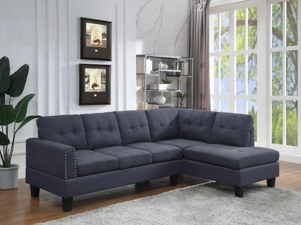 Jeimmur Sectional Sofa - Grey Linen Acme