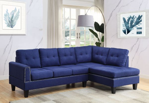 Jeimmur Sectional Sofa - Blue Linen Acme