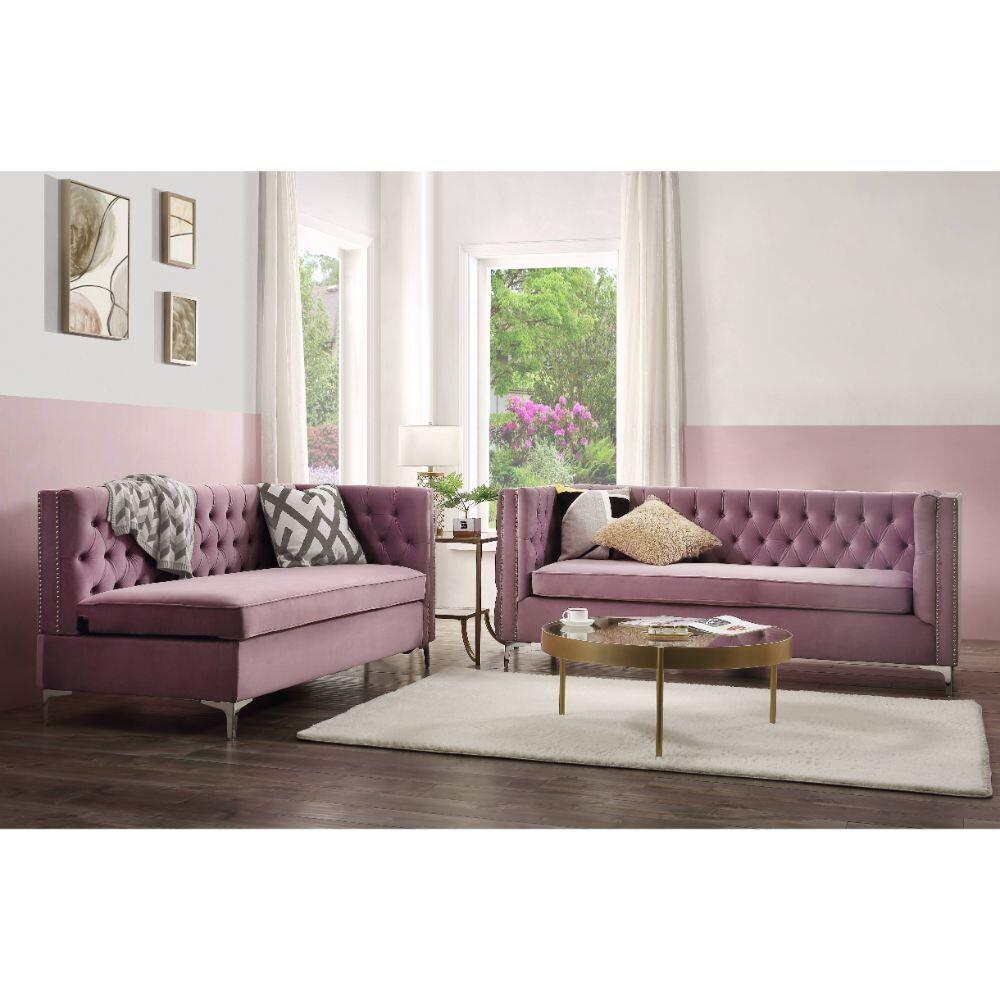 Rhett Sectional Sofa Acme - Pink