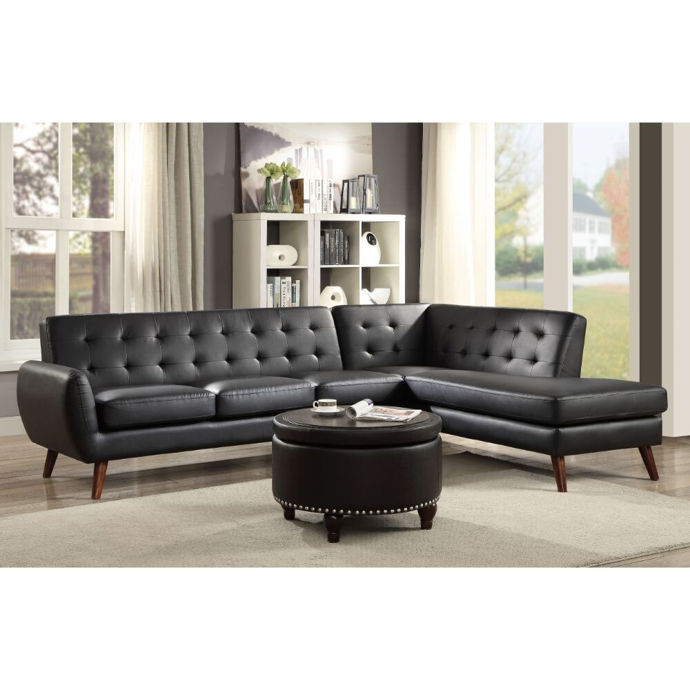 Essick II Sectional Sofa Acme - Black