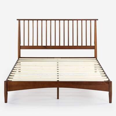 Bar Wood Platform Bed Frame (Linda)