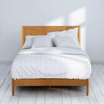 Natural Wood Platform Bed Frame (Allen)