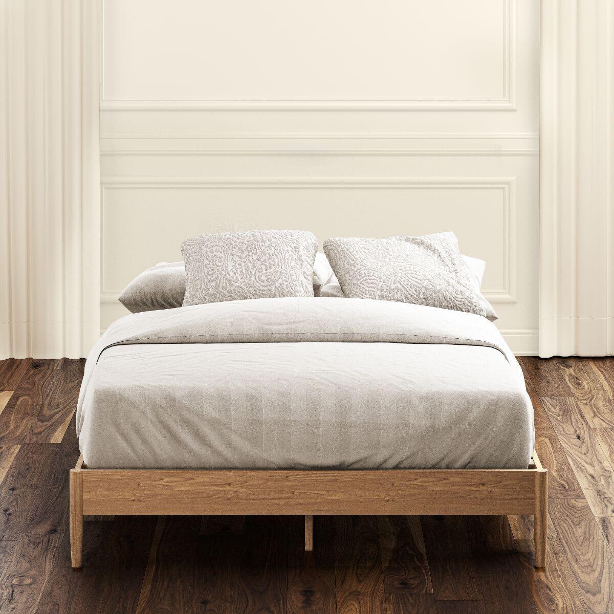 Natural Wood Platform Bed Frame (Amelia)