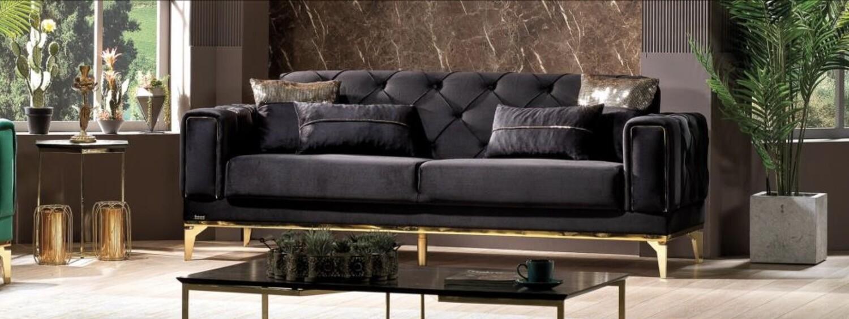 Valeria Black Sofa
