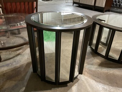 Mirror & Wood End Table