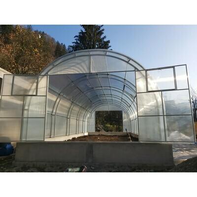 Gewächshaus - Treibhaus GALERICA GOLEM 4m Breite - Polycarbonat 4/6 mm.