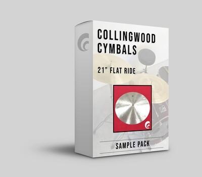 "Digital Sample Pack - 21"" Flat Ride Cymbal."