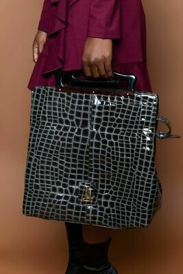 Crocodile Print Handbag