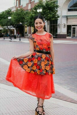 Dolly Orange Dress