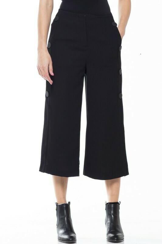 WHY Dress Black Wide Pants