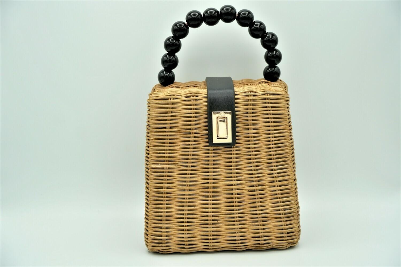 Straw Leather Bag
