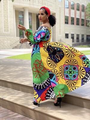Multi-colored Maxi Dress