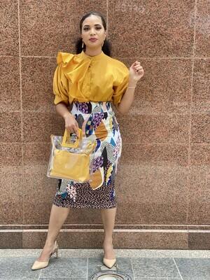 Print High waist Skirt