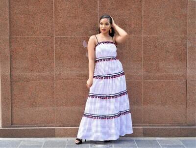 lATISTE Red white Blue Dress
