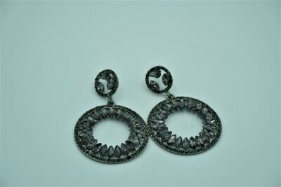 Black Rhinestone Earring