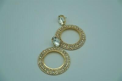 Round Rhinestone Earring