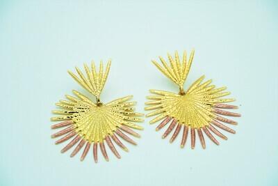 Gold peacock Earring