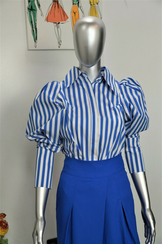 Blue & White Stripe Paris Shirt