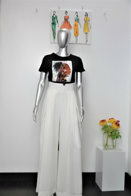 Cq White highwaist pants