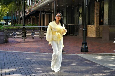 Yellow Organza Blouse