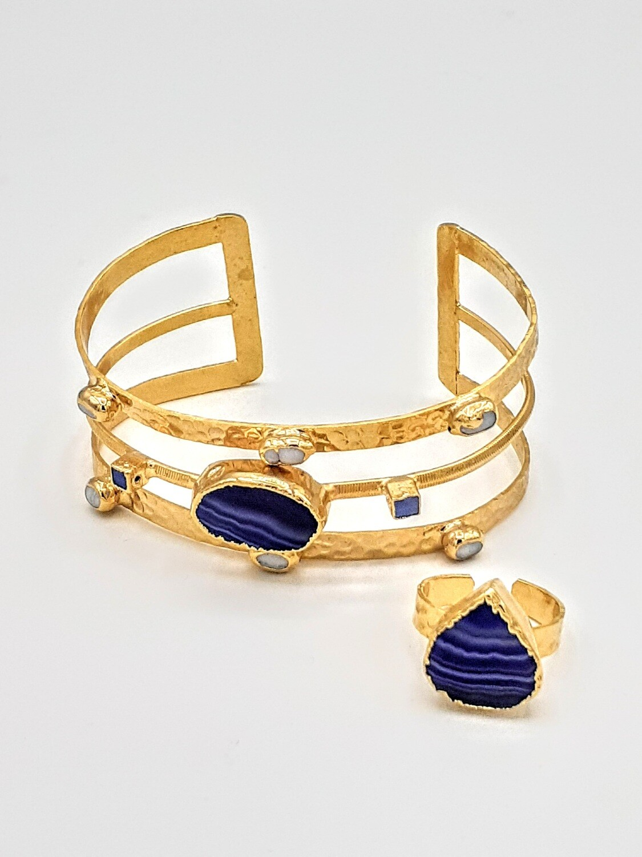 Sapphire Bangle/Ring Set