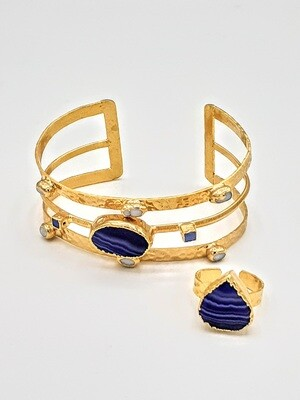 Sapphire Bangle/Ring Set