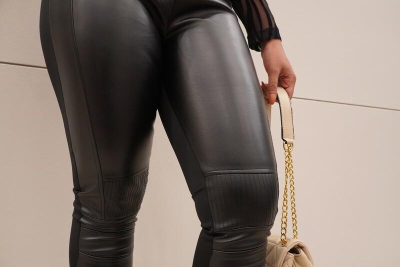 Siyah Leather Pant