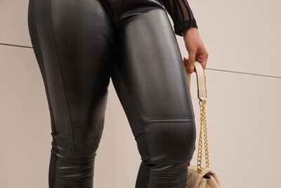 Siyah Leather Pant