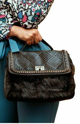 Black FauxFur Bag