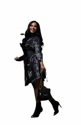 Script Black Dress
