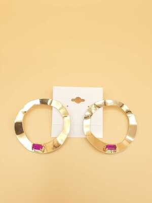 Heptagon Gem Earring