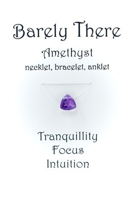 Amethyst - Invisible Necklet, Bracelet, Anklet - Trillion Facet