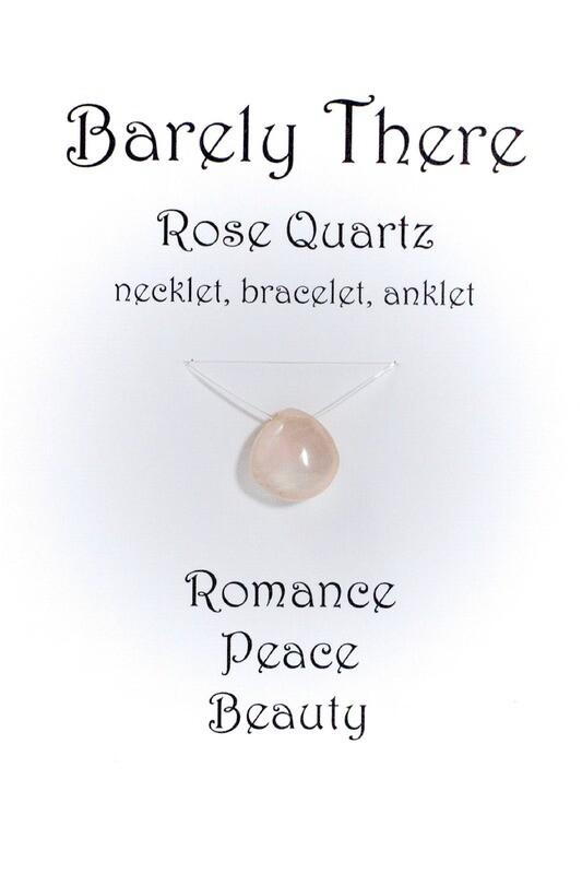Rose Quartz, Invisible Necklet, Bracelet, Anklet
